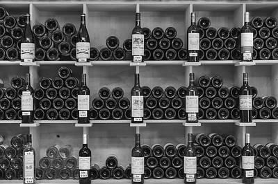 Wine Cellar Photograph - Wine Shelf by Georgia Fowler