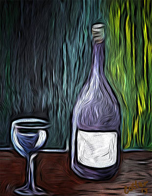 Wine Still Life Art Print