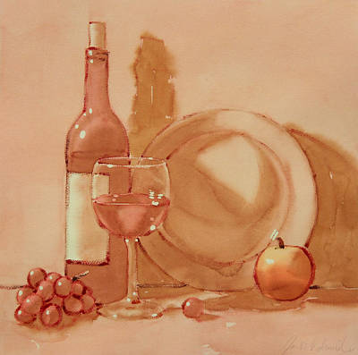 Wine Still Life Art Print by Joe Schneider