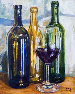 Wine Reflection Art Painting - Wine Still Life by Kevin Richard