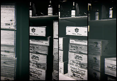 Images For Packaging Photograph - Wine Store Inside Collage by Georgia Fowler