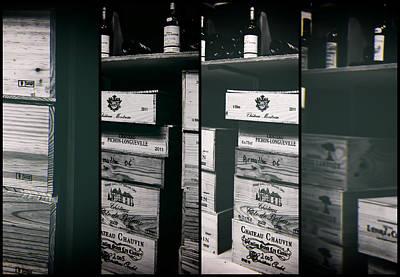 Wine Store Inside Collage Art Print