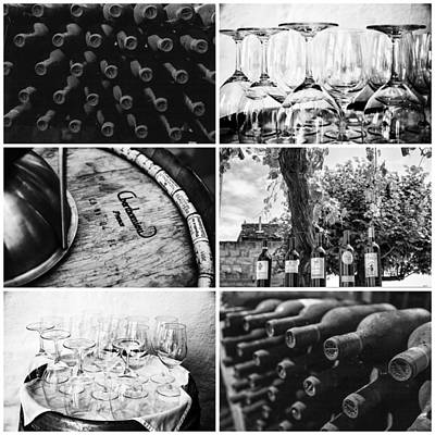 Wine Tasting Collage Art Print