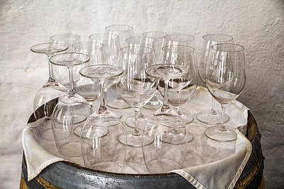 Wine Tasting Glasses Art Print