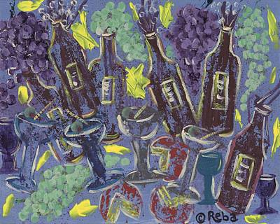 Glass Of Wine Painting - Wine Tasting by Reba Baptist