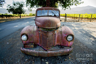 Cellar Photograph - Wine Truck by Jon Neidert