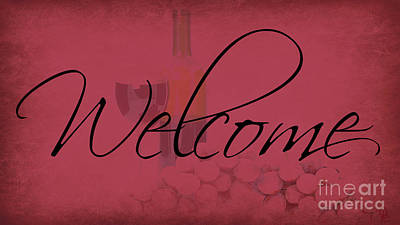 Digital Art - Wine Welcome by Mindy Bench