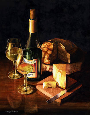 Wine With Cheese Art Print