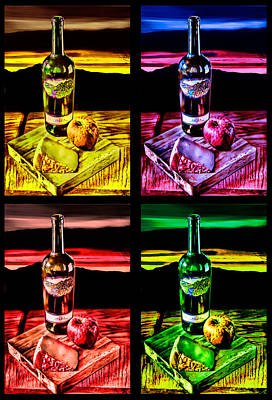 Digital Art - Wine X 4 by Sharon Beth