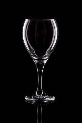 Crystals Photograph - Wineglass by Tom Mc Nemar