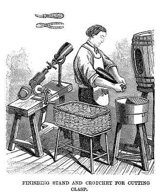 Winemaking Finishing, 1866 Print by Granger