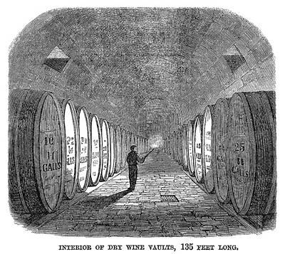 Winemaking Vault, 1866 Art Print by Granger