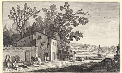 Winery Drawing - Winery In A Landscape, Jan Van De Velde II by Jan Van De Velde (ii)