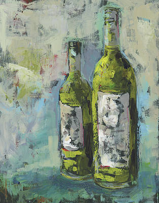 Wine Painting - Wines In Grey 2 by Pamela J. Wingard