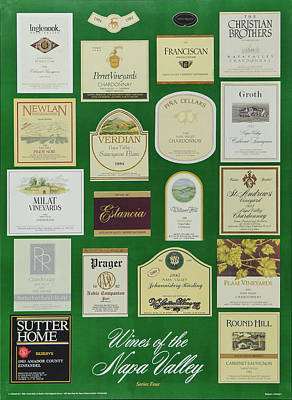 Wines Of The Napa Valley - Series 4 Art Print