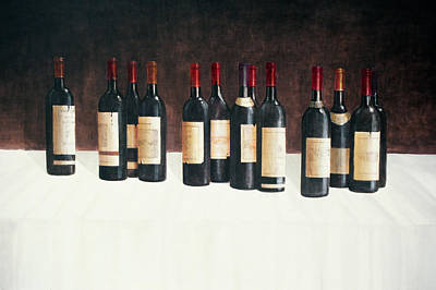 Wine Bottle Painting - Winescape Red 2003 by Lincoln Seligman