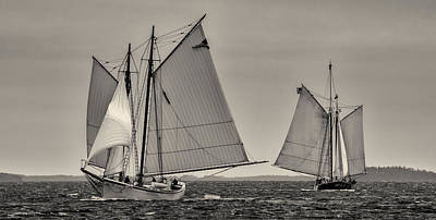 Windjammer Photograph - Wing And Wing by Fred LeBlanc