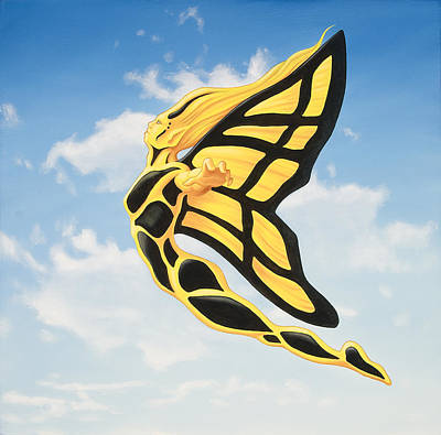 Soaring Painting - Wing by Charles Luna