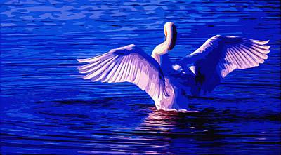 Wing Glow Art Print