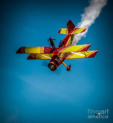 Photograph - Wing Walker Close Up by Ronald Grogan