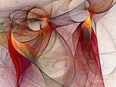 Mathematical Digital Art - Winged-abstract Art by Karin Kuhlmann