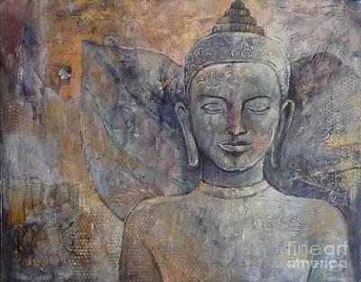Winged Buddha Art Print by Paulina Garoa