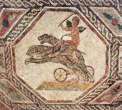 Mosaic Photograph - Winged Cupid Charioteer by Sheila Terry