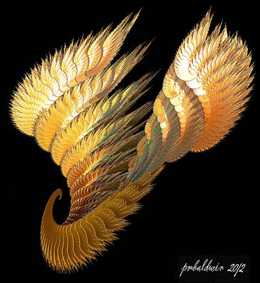 Digital Art - Winged Curl by Patrice Baldwin