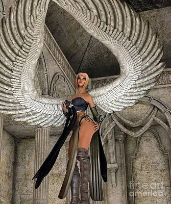 Personalized Name License Plates - Winged female - Fantasy 3d by Brian Raggatt