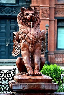 Winged Lion Fountain Art Print