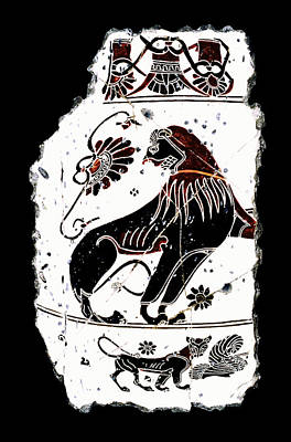 Bogdanoff Painting - Winged Lion by Steve Bogdanoff