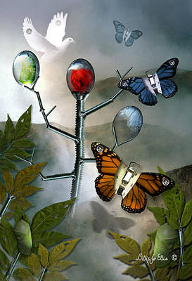Monarch Digital Art - Winged Metamorphose by Billie Jo Ellis
