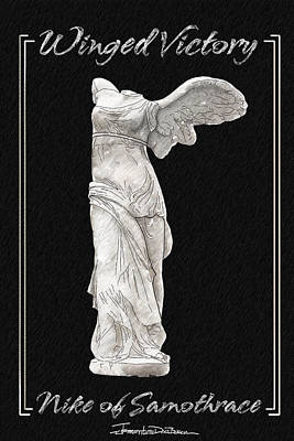 Winged Victory - Nike Of Samothrace Art Print by Jerrett Dornbusch