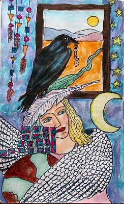Winged Woman Art Print by Linda Marcille