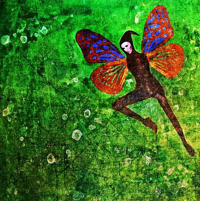 Art Print featuring the digital art Wings 10 by Maria Huntley
