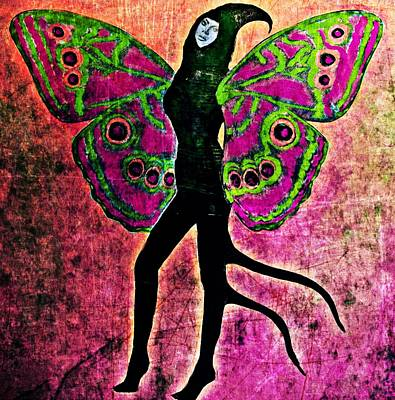 Art Print featuring the digital art Wings 11 by Maria Huntley