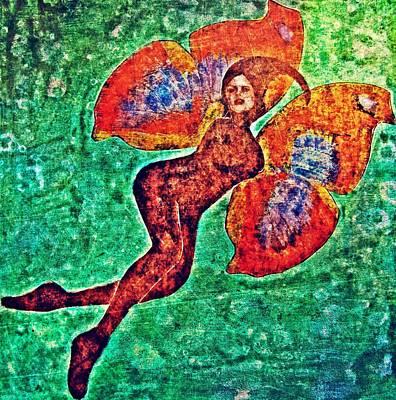 Art Print featuring the digital art Wings 12 by Maria Huntley