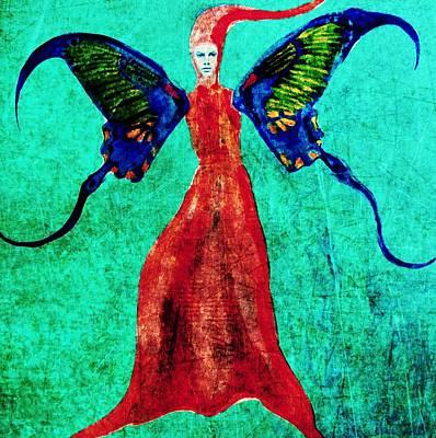 Art Print featuring the digital art Wings 13 by Maria Huntley