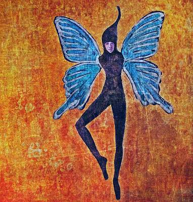 Art Print featuring the digital art Wings 16 by Maria Huntley