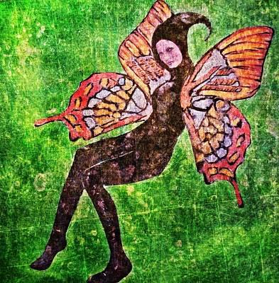 Art Print featuring the digital art Wings 17 by Maria Huntley
