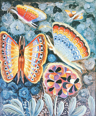 Fairies Photograph - Wings, 1979 Oil On Canvas by Radi Nedelchev