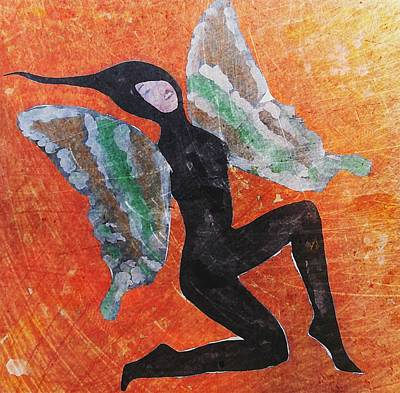 Art Print featuring the digital art Wings 4  by Maria Huntley