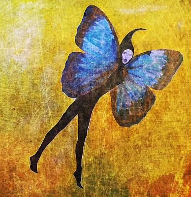 Art Print featuring the digital art Wings 5  by Maria Huntley