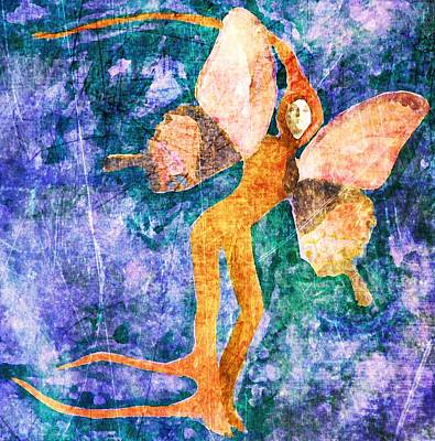 Art Print featuring the digital art Wings 8 by Maria Huntley