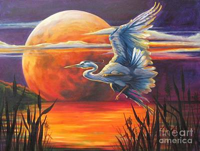 Painting - Wings Across The Moon by Pat Burns
