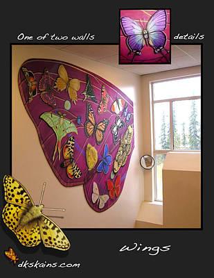 Blue Swallowtail Mixed Media - Wings by Dorinda K Skains