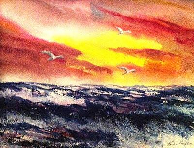 Wings Of Change Art Print by Karen  Condron