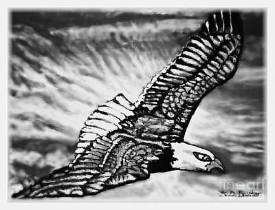 Tribute To Women Painting - Wings Of Flight In Service To Our Country by Kimberlee Baxter