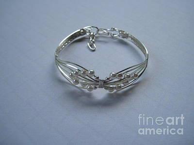Sterling Silver Bracelet Jewelry - Wings Of White Pearls Bracelet by Holly Chapman