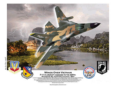 Digital Art - Wings Over Vietnam Aardvark by Kenneth De Tore